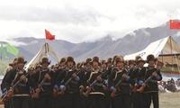 西藏日喀则军分区联训联演,强化民兵战斗属性