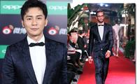 李晨亮相2017微博之夜红毯 西装造型变身优雅绅士