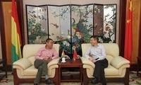 驻几内亚大使卞建强会见几内亚华侨华人总商会会长陈仁兵