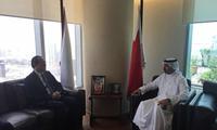 安瓦尔大使到任拜会巴林石油大臣穆罕默德