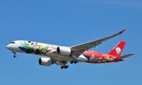川航首架A350今日首航成都=北京 旅客首次体验熊猫主题航班