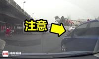 女司机26秒遭8次蛇形别车:对方摇摆走位、急刹